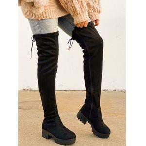 Just In!!🖤 British Girls - Black  Over Knee Boot